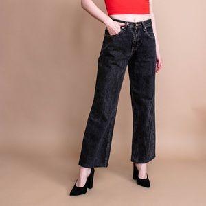 Vintage 90s black high waist crop ankle jeans